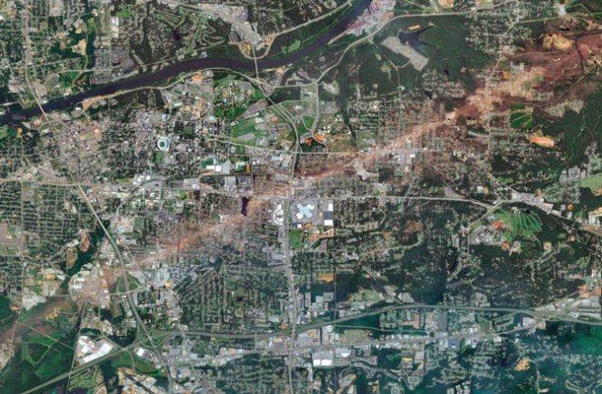 Tuscaloosa tornado path